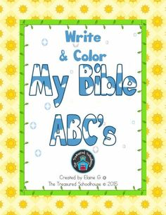Bible ABC Alphabet to Color and Write Pages