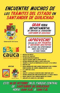 Primera Feria Departamental de Atención al Ciudadano en Santander de Quilichao. Todos los detalles: [http://www.proclamadelcauca.com/2014/10/primera-feria-departamental-de-atencion-al-ciudadano-en-santander-de-quilichao.html]