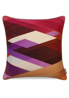 Diagonal Gradient Cushion by Kit Miles