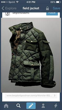 Moncler field jacket, men's