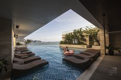 Pool on level four at Wyndham Legend Halong