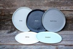 Side Plates, Grey And White, Small Plates