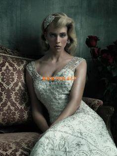 Allure Fabulous Beaded Lace Mermaid Designer Wedding Wedding Dresses 2013