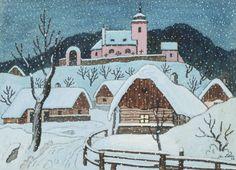 Naive Art, Siena, Prague, Fairy Tales, Literature, Christmas Crafts, Snoopy, Drawings, Illustration