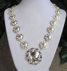 Bright simple concho necklace