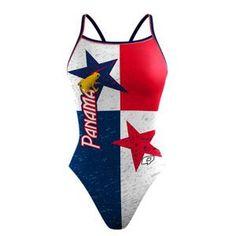 Panama Sunback Tank. Show off your Panama pride! #qswimwear #swimsuit
