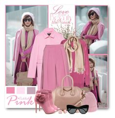 """Tickled Pink"" by brendariley-1 ❤ liked on Polyvore featuring Lux-Art Silks, Gucci, MaxMara, Roksanda, Luigi Borrelli, Givenchy, STELLA McCARTNEY, Kate Spade, Pink and galantgirl"