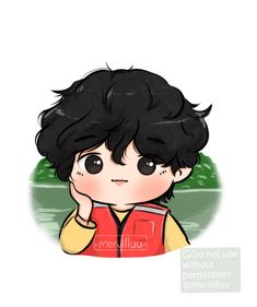"Merve⁷ ◡̈ 🎨 on Twitter: ""#btsfanart @BTS_twt #Taehyung… "" V Chibi, Cute Chibi, Anime Chibi, Anime Art, Bts Drawings, Cartoon Drawings, Cartoon Wallpaper, Bts Wallpaper, Bts Pictures"