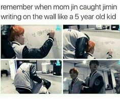 Haha chimchim can be such a child sometimes tho, good job he has mumma Jin nearby