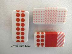 Washi Tape Domino Magnets; for more inspiration and washi projects visit thewashiblog.com | #washi #washitape