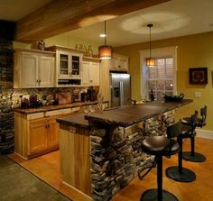 Love the stone and the beam!  www.findinghomesinlasvegas.com. Keller Williams Las Vegas & Henderson, NV.