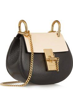 Chloé   Drew nano textured-leather shoulder bag   NET-A-PORTER. Saco De  ChloeCouro ... bc86703620