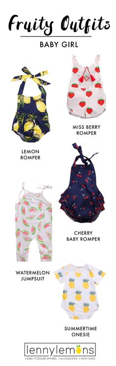 Adorable prints for your baby girl! Cutest options for your little girl. Choose between our rompers, jumpsuits and outfits to dress your girl. The sweetest options for you to choose the right one for her. Lenny Lemons. Baby and toddler apparel.