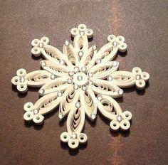 Paper Filigree Snowflake Quilled Snowflake Ornament White Christmas. $9.25, via Etsy.