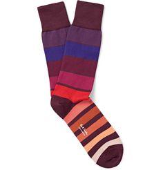 Paul Smith - Striped Stretch Cotton-Blend Socks