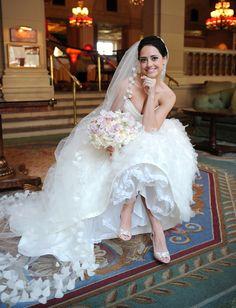 Stunning gown & veil !