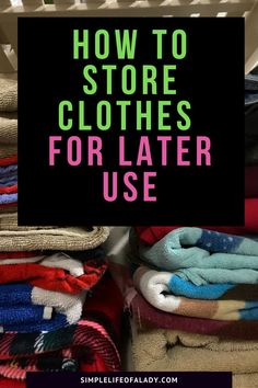 How to organize and store your clothes properly so you can still wear them later in good shape! Vacuum Storage Bags, Diy Storage, Storage Ideas, Dry Cleaning Bags, Moth Repellent, Storing Clothes, Bedroom Organization Diy, Plastic Bins, Mold And Mildew