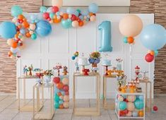 Oh how fun it would be to be one again! This birthday setup uses an array of bright and happy colours, capturing the fun and festivity of turning one! ・・・ Event styling by 1 Year Old Birthday Party, Baby Boy 1st Birthday Party, First Birthday Parties, First Birthdays, Baby Boy Birthday Decoration, Jungle Theme Birthday, Photos Booth, Kids Party Decorations, Partys