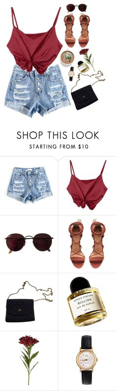 """""""love game."""" by gre17 ❤ liked on Polyvore featuring Ray-Ban, Chanel, Byredo, OKA and American Apparel"""