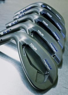 "September 18, 2013: ""Spotted inside PING Wrx: Custom Tour wedges with #GorgeGrooves. What color-combination would you pick?,"" asked Ping Golf (@PingTour) about these stark, dark wedges."