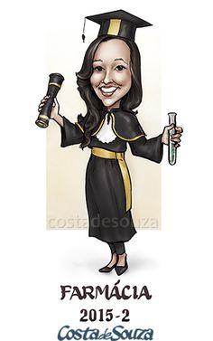 Caricatura para formatura em farmácia #graduation #caricature