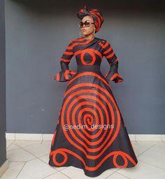 Look at this Stylish Africa fashion Shweshwe Dresses, African Maxi Dresses, Latest African Fashion Dresses, African Dresses For Women, African Attire, African Wear, African Style, African Outfits, African Women