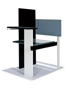 Gerrit Rietveld,Berlin chair.Designed 1923; this example produced later by Jack Brogan. This item is coming up for sale at LAMA´s Modern Art & Design Auction on 23rd of February. / LAMA