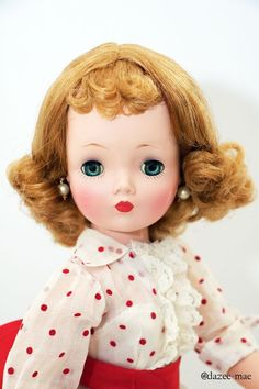 Vintage Cissy in HTF Tagged MA Dress. She has lots to say so see description! #MadameAlexander #DollswithClothingAccessories