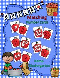 Preschool Lessons, Kindergarten Activities, Kindergarten Teachers, Math Lessons, Apple Life Cycle, Apple Theme, Matching Cards, Little Learners, Number Sense