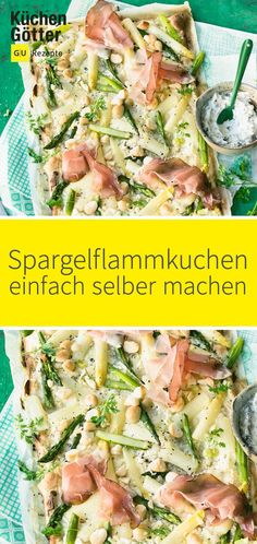 Spargelflammkuchen is not only the Richtige for the Party, also also also the leckerste lunch for the whole family. HIER GEHT ES ZUM REZEPT: www. Food Tags, Cookie Do, Cookies Policy, Pasta Salad, Quiche, Bacon, Avocado, Food And Drink, Pizza