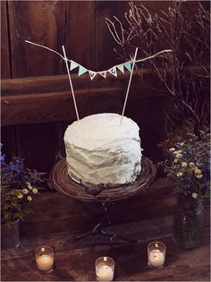 cute for the b&g cake to cut - could do dessert bar for rest