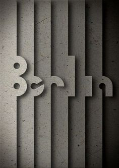 Show us your type project: Berlin poster by Amaya Oyon, Tudela