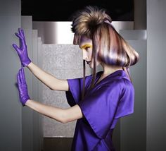 Fusion interpretation by Dmitriy Vinokurov of Beauty studio Dmitriy Vinokurov, Russia. Color: Illumina Color #hair