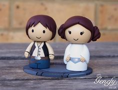 Han Solo and Leia wedding cake topper  https://www.facebook.com/genefyplayground