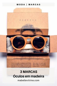 Brand Packaging, Packaging Design, Sunglasses Store, Eyewear, Recycling, Branding, Cases, Business, Wood
