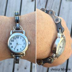 Bike chain watch.