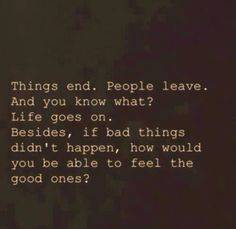 Don't give up! Life goes on ❤️