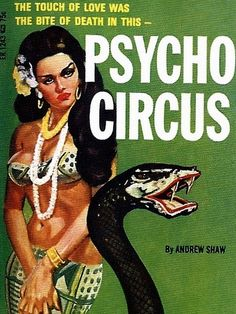 vintage pulp fiction psycho circus