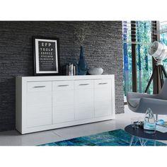 Bahut-buffet design laqué blanc APHODITE, 2 portes/3 tiroirs ...