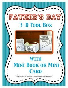 Father's Day 3-D Tool Box, Mini Book and Card