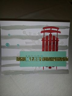 Stampin' Up! demonstrator Jennifer T's project showing a fun alternate use for the Watercolor Winter Simply Created Card Kit.