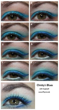 Sugarpill Blues tutorial. Click through to see!