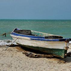 RT @quellevarBarca en Playa Mayapo, cerca a #Riohacha. Esta es frecuentada los fines de semana por locales y visitantes. #Guajira #Colombia #travel #turismo #ViajaLatino #instatravel Project Ideas, Art Projects, Boat Painting, Painting Videos, Surfboard, Abandoned, Scenery, Spaces, Ship