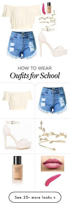 """""""School"""" by polyvore-princessa on Polyvore featuring Topshop, Nly Shoes and TheBalm"""