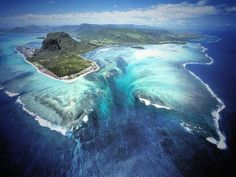 Le Morne Brabant peninsula,  Island of Mauritius Massive crevice