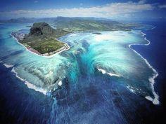 Le Morne Brabant peninsula,  Island of Mauritius Massive crevice