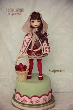 Capucine Fondant Toppers, Fondant Cakes, Beautiful Cakes, Amazing Cakes, Fondant People, Making Fondant, Fondant Animals, Sculpted Cakes, Cake Makers