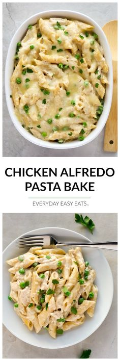 This Chicken Alfredo Pasta Bake recipe requires only 6 ingredients and is ready…