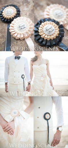 【活用術まとめ】ウェディングロゼットで結婚式をもっと可愛くアレンジしましょ*
