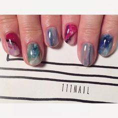 Treasure #nail#art#nailart#ネイル#ネイルアート #大理石ネイル#Treasure#stone#colorful#ショートネイル#nailsalon#ネイルサロン#表参道#大理石111